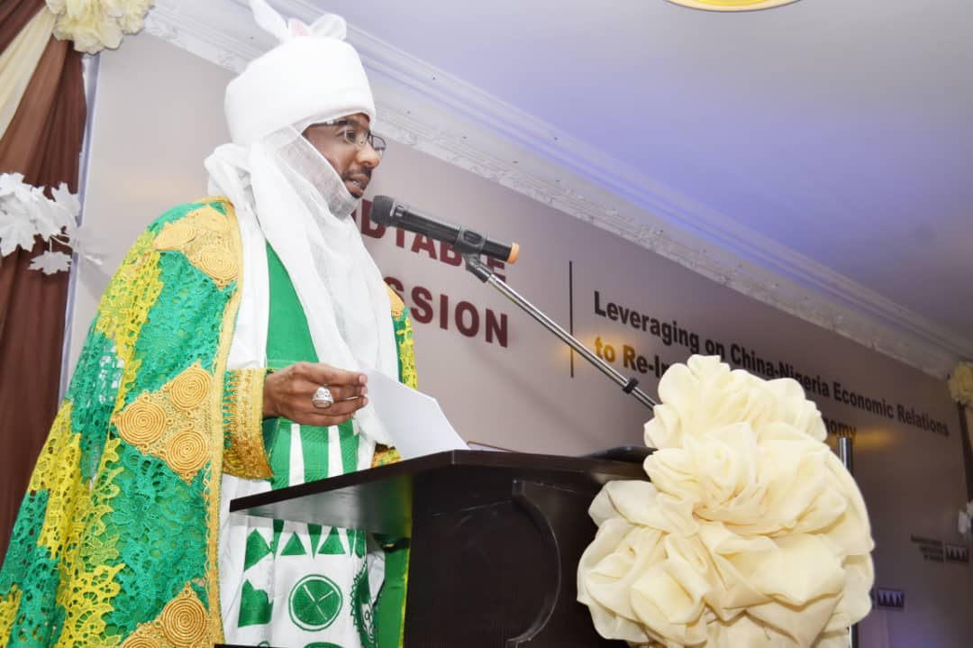 Emir of Kano, Mallam Muhammadu Sanusi, address MAN members at a Round table discussion in Kano