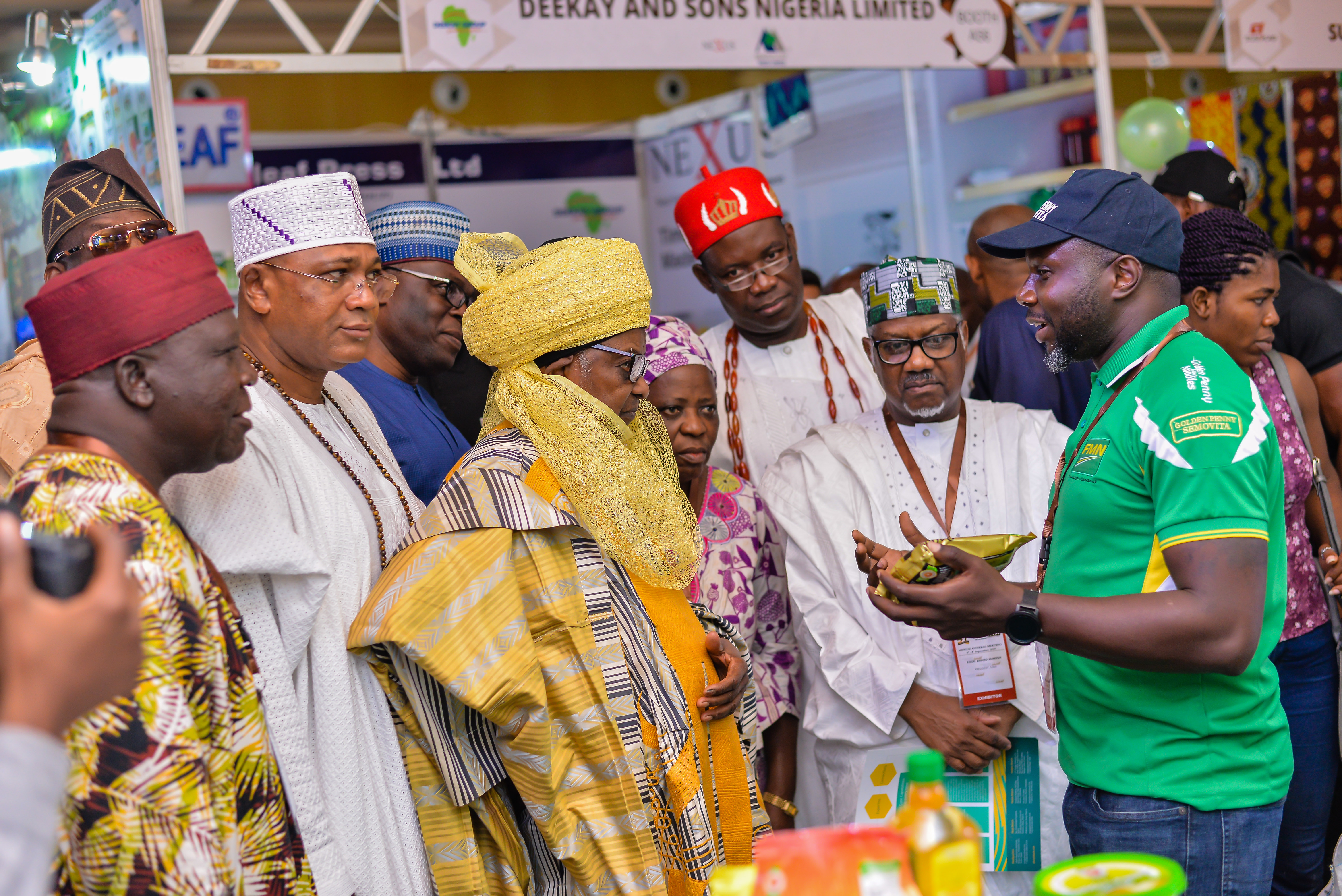 MAN President in company of Amb. Adamawa & MAN EXCO officials during a tour at the exhibition venue