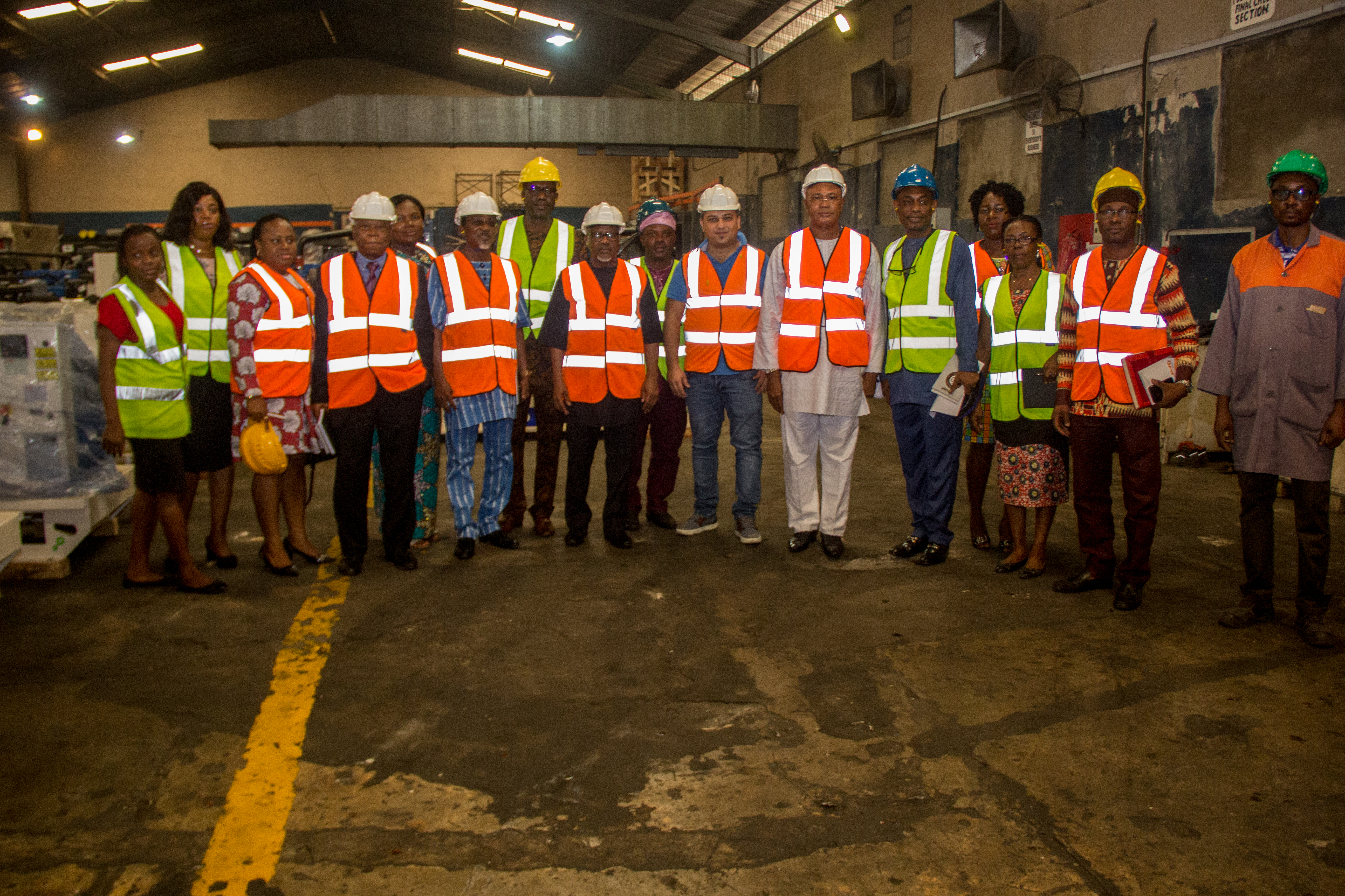 A group photograph at JMG factory shortly after the courtesy visit by MAN President